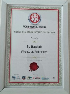 """NU Hospitals has won the ""International Specialist Centre of the Year for Nephrology, Urology & Fertility"""