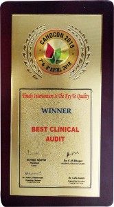 "NU Hospitals won the 1st prize in the category ""Best of clinical audits for the Topic on CLABSI"", ""Best practices of Clinical Audits"" at Rajajinagar."