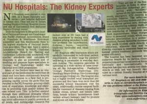 NU In Times of India - Times Health Survey