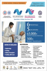 NU Hospitals in NU in the New Indian Express Newspaper Bangalore edition.