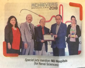 NU Hospitals in the Times of India Bangalore Edition